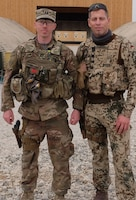 CPT Caesar and Lieutenant Colonel Lebsch in front of the firing range.