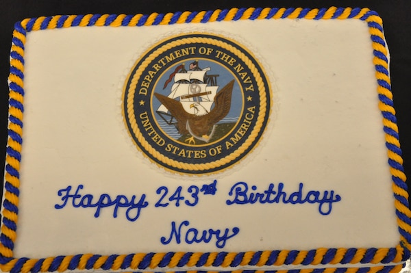 IMAGE: Dahlgren celebrates Navy's 243rd Birthday. Cake is pictured.