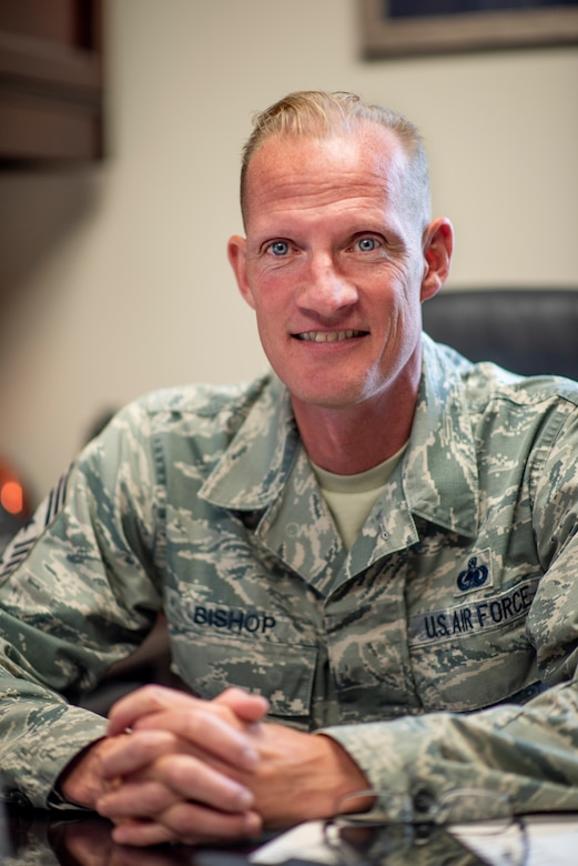 (U.S. Air Force courtesy photo of Chief Master Sgt. David Bishop, 141st Air Refueling Wing command chief)