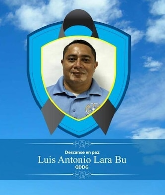 Honduran National Police paid tribute to Luis Antonio Lara Bu with this memorial. He escorted AFOSI and Army MI agents on a threat orientation of the former murder capital of the world, San Pedro Sula, Honduras, helping agents obtain critical threat information for the commander of Joint Task Force – Bravo. (Image submitted by SA Chris Scheib, AFOSI Det. 540, Berlin, Germany)