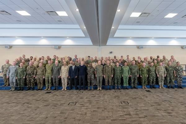 Chairman of the Joint Chiefs of Staff Gen. Joe Dunford hosts over 80 chiefs of defense at Joint Base Andrews, Maryland, to discuss countering violent extremist organizations, Oct. 16. This is his third conference Dunford has hosted on this topic.
