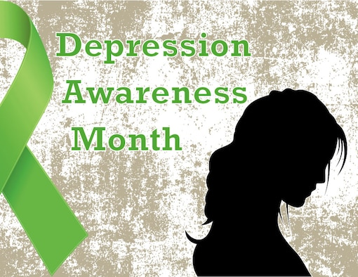 October is National Depression Awareness Month. Depression is one of the top public health problems, affecting 300 million people nationwide. According to a 2014 study in the Journal of the American Medical Association of Psychiatry, nearly one in four active duty members shows signs of a mental health condition. The earlier people get help, the better the prognosis.  (U.S. Air Force Illustration by Staff Sgt. Matthew Coleman-Foster)