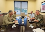 Chairman of the Joint Chiefs of Staff General Joe Dunford meets with Pakistan Chairman of the Joint Chiefs of Staff Committee, Gen. Zubair Mahmood Hayat Oct. 16 in Washington D.C.