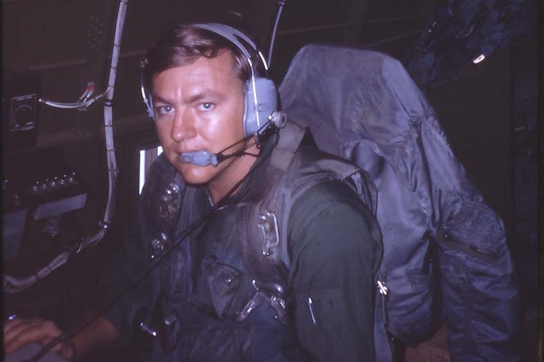 David Miller prepares for a mission aboard a C-47 Skytrain in this undated photo from his time in Vietnam. A radio intercept operator, Miller was recognized for his actions there more than 50 years after his actions saved the lives of U.S. troops on the ground. (Courtesy photo)
