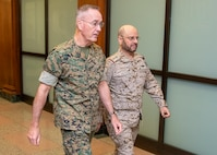 Chairman of the Joint Chiefs of Staff Gen. Joe Dunford meets with Saudi Arabia Chief of the General Staff Gen. Fayyad Al-Ruwayli today in Washington D.C., Oct. 17.
