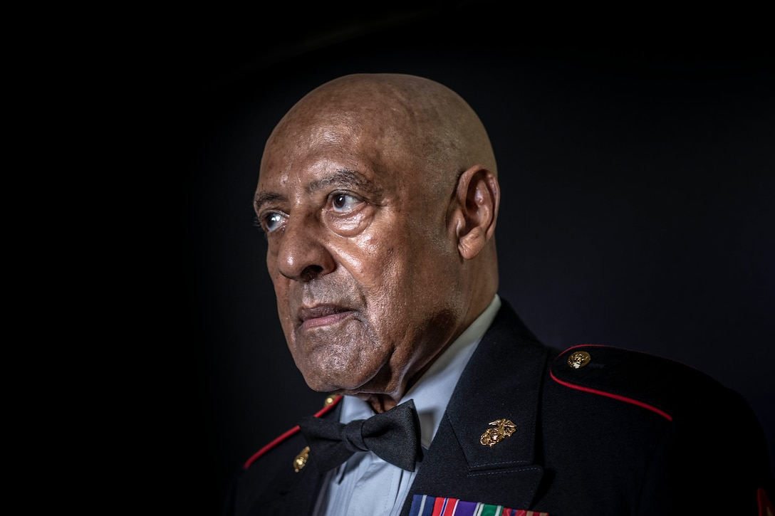Portrait of Marine Corps Sgt. Maj. John L. Canley