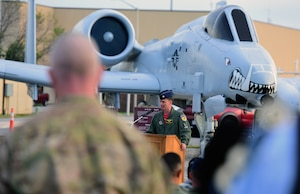 """The remembrance ceremony was held in honor of fallen A-10 pilots and signals the start of 2018 Hawgsmoke competition, which is a biennial worldwide A-10 bombing, missile and tactical gunnery competition derived from the discontinued """"Gunsmoke"""" Air Force Worldwide Gunnery Competition."""