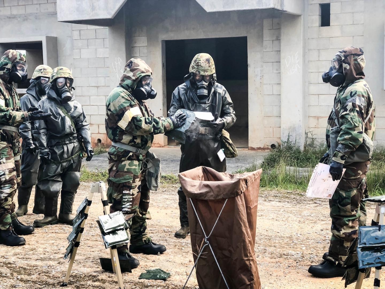 U.S. Military units in Okinawa conduct Joint, Bilateral CBRN Training