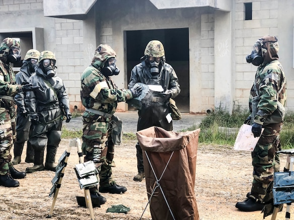 U.S. Military units in Okinawa conduct Joint, Bilateral CBRN Training