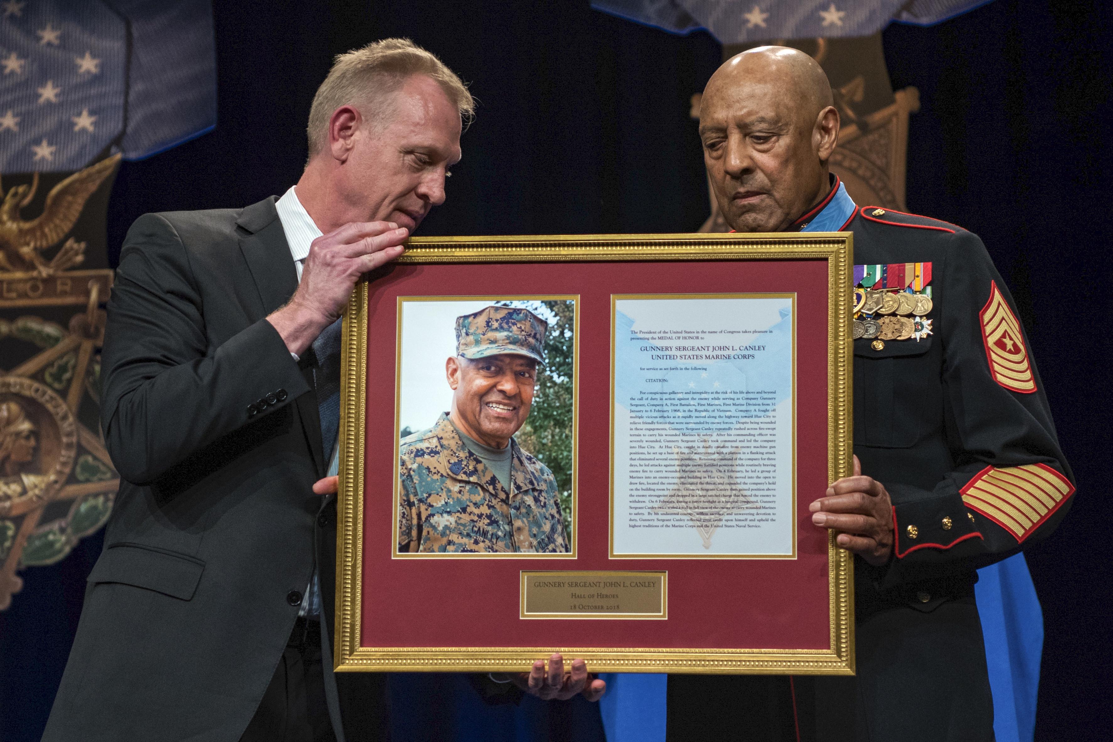 Heroic Marine Joins Pentagon's Hall of Heroes > U S  DEPARTMENT OF
