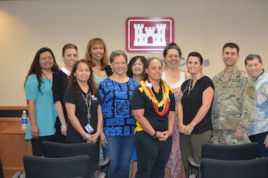 Honolulu District Special Emphasis Programs Committee along with District staff were honored to have U.S. Army Reserve Sgt. Kawaiola Nahale as the guest speaker for Women's History Month.  Nahale spoke about competing in the 2016 Department of Defense Warrior Games held at the United States Military Academy at West Point, N.Y.  Based on her swim times at the trials there, she qualified to compete in both the Warrior Games and Invictus Games. Nahale is a Financial Analyst with the U.S. Army Reserve's 311th Signal Command based at Fort Shafter, Hawaii