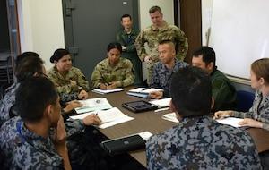 Fifth Air Force hosted the 36th Contingency Response Group and Koku Jieitai (Japan Air Self Defense Force) for a contingency response subject matter expert exchange, Oct. 11-12, 2018, at Yokota Air Base, Japan.