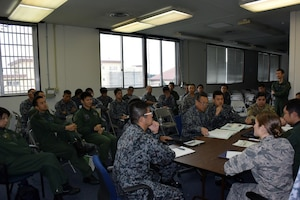 Fifth Air Force hosted the 36th Contingency Response Group and Koku Jieitai (Japan Air Self Defense Force) for a contingency response subject matter expert exchange, Oct. 11-12, 2018, at Yokota Air Base, Japan.