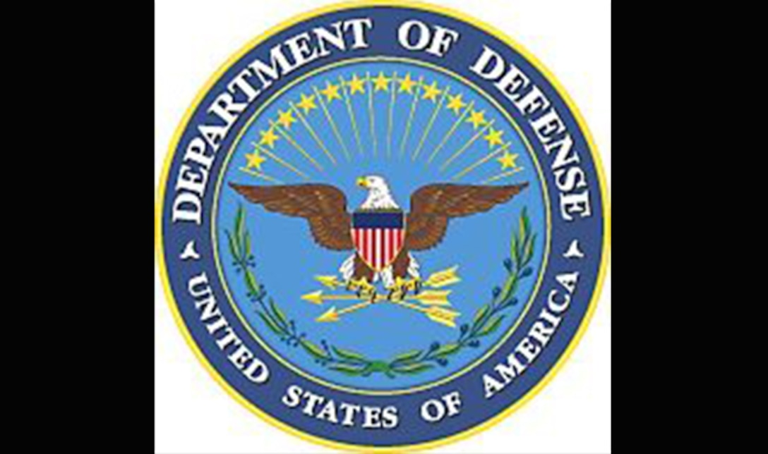 Department of Defense Seal with black background