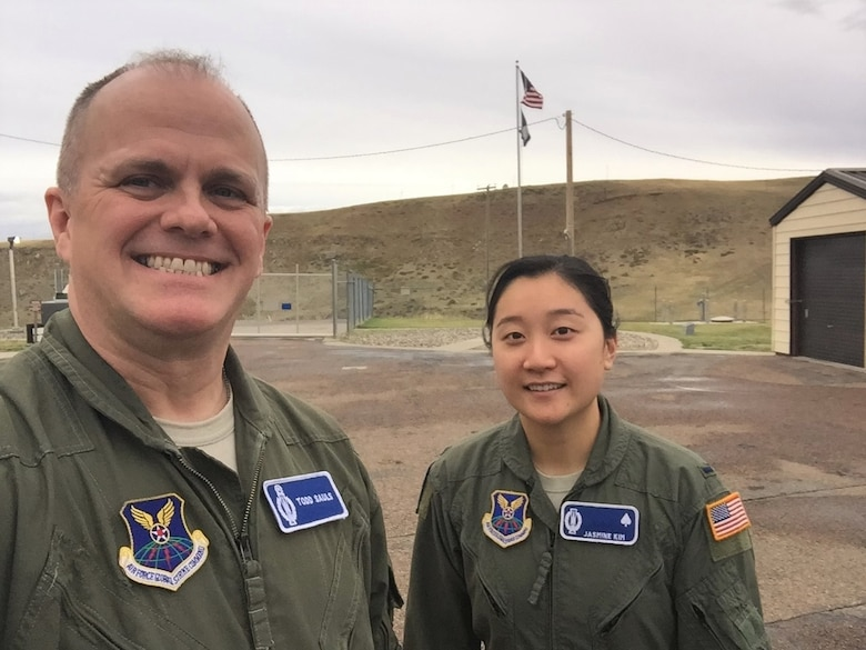 Colonel Todd Sauls, 20th Air Force Director of Operations and Communications, was the first person to pull alert at all active 45 Launch Control Centers. (Courtesy Photo)