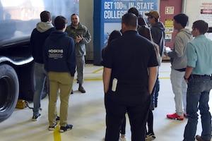 173 FW Airman talks to high schoolers