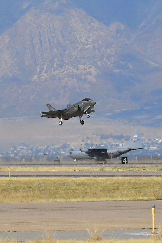 Maj. Daniel Toftness, a reservist in the 419th Fighter Wing, departs for a sortie in an F-35A Lightning II Oct. 18, 2018, at Hill Air Force Base, Utah. The flight marked the 10,000th sortie with the aircraft at Hill since the first operational F-35s arrived in September 2015. (U.S. Air Force photo by Todd Cromar)
