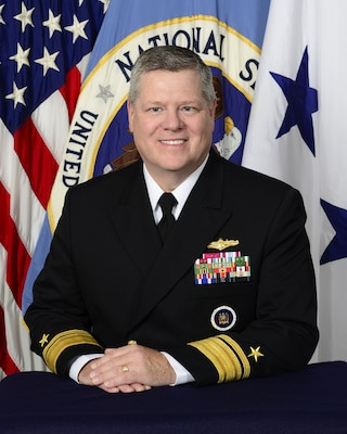 Portrait of the Deputy Chief, Central Security Service (CSS), Rear Admiral Daniel J. MacDonnell, USN