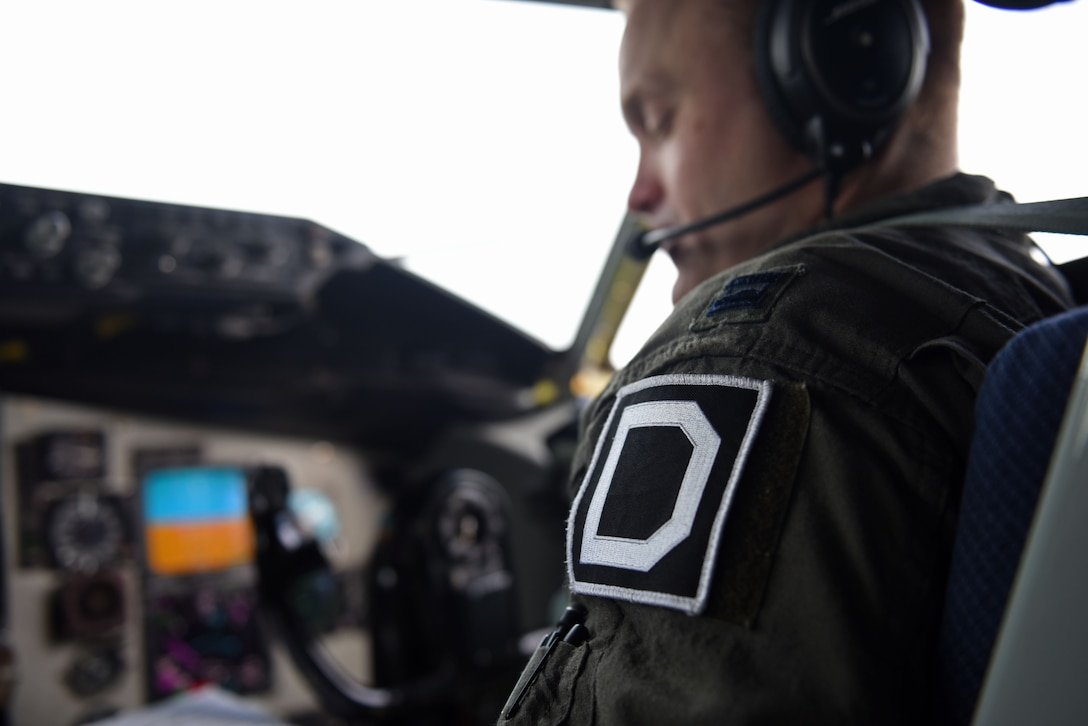 U.S. Air Force Capt. Richard Jackson, 351st Air Refueling Squadron pilot, performs pre-flight checks before taking off for aerial refueling training with two U.S. Air Force F-22 Raptors over Finland, Oct. 19, 2018. The F-22s deployed from the 27th Fighter Squadron, 1st Fighter Wing, Joint Base Langley-Eustis, Va. (U.S. Air Force photo by Senior Airman Luke Milano)