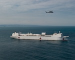 The hospital ship USNS Comfort (T-AH 20) is stationed off the coast of Ecuador.