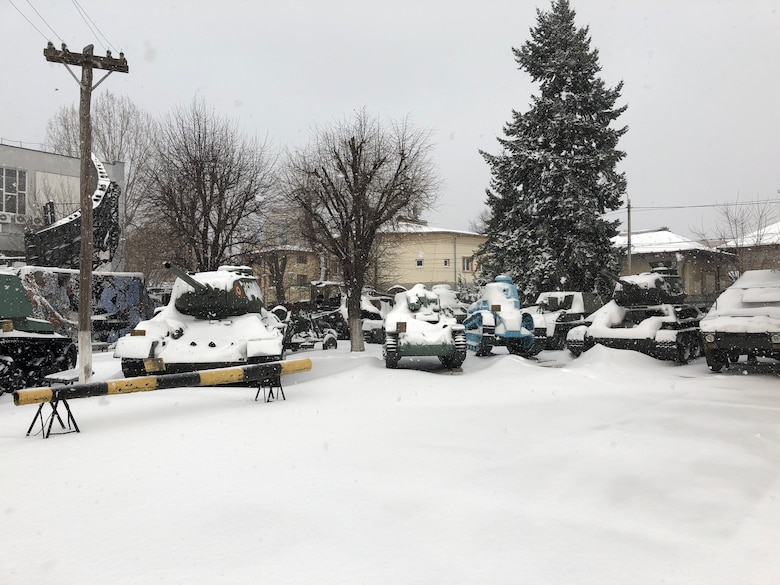 The temperature was a bitter 16 degrees, ice coated the roads, and snow had just begun to fall when Dr. Tricia Fogarty and her Air War College students arrived in Romania back in February.
