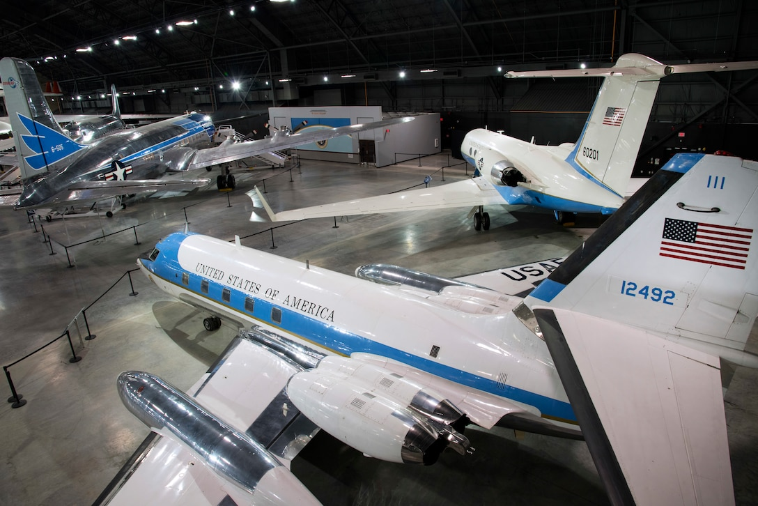 DAYTON, Ohio -- The Presidential Gallery at the National Museum of the U.S. Air Force. (U.S. Air Force photo by Ken LaRock)