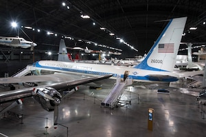 DAYTON, Ohio -- Boeing VC-137C SAM 26000 on display in the Presidential Gallery at the National Museum of the U.S. Air Force. (U.S. Air Force photo by Ken LaRock)
