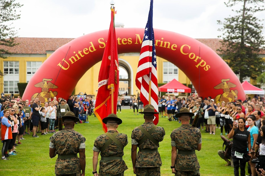 TOP SHOT WINNER!!! You voted and we listened! Here is this week's Top Shot! Members of the Marine Corps Recruit Depot San Diego Color Guard present the colors at the 17th annual Boot Camp Challenge aboard Marine Corps Recruit Depot San Diego, October 13.