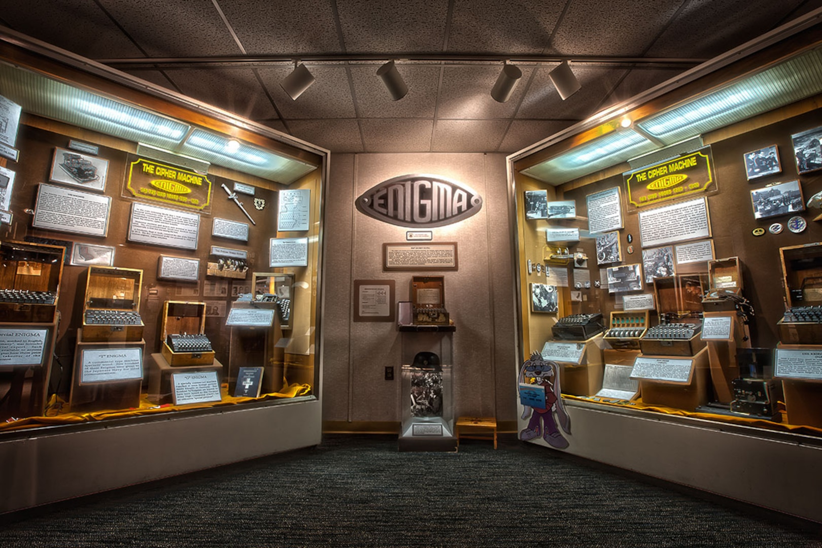 Visit NSA's National Cryptologic Museum to see an authentic Enigma