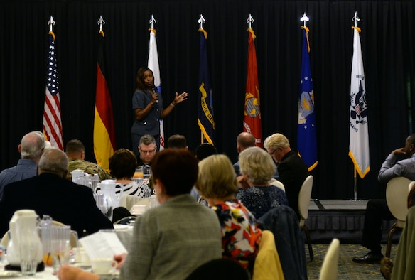 Maria Bentinck, deputy director of the Army Retirement: Soldier for Life Office in Washington D.C. held a question and answer seminar during Retiree Appreciation Day on Ramstein Air Base, Germany, Oct. 18, 2018.