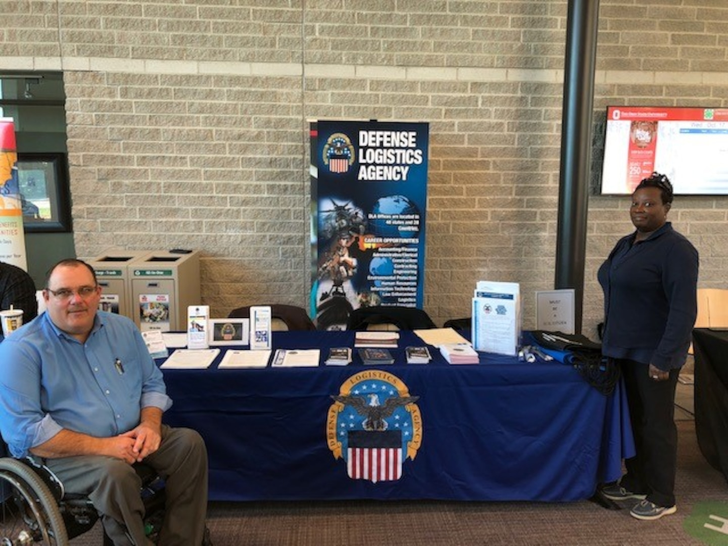 DLA Land and Maritime Recruitment booth at Opportunities for Ohioans with Disabilities