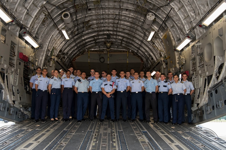 22 cadets from 11 different Latin American countries were brought to the United States to get hands-on experience with the different branches of the U.S. military.