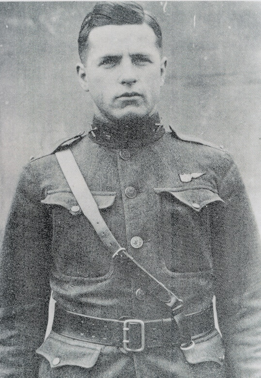 U.S. Army 2nd Lt. Erwin Bleckley, 50th Aero Squadron forward observer, received the Medal of Honor for his flight to find and drop supplies to the Lost Battalion in Meuse-Argonne, France, Oct. 6, 1918.