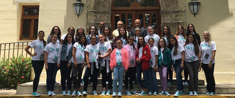 Group photo of 2017 GenCyber Camp participants at the Polytechnic University of Puerto Rico in San Juan