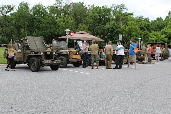 The 4th Infantry Military Police Platoon brought several vehicles for visitors to inspect, a weapons lay-out, and even a mock post office as soldiers would have had in the field during WWII.