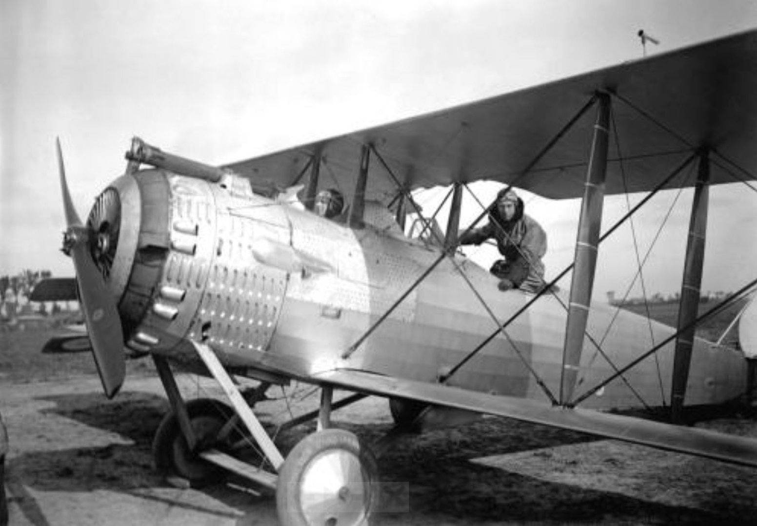 U.S. Army 2nd Lt. Francis B. Lowry, back seat, of Denver, Colorado, is seen in a French-built Salmson 2.A2 reconnaissance aircraft in 1918. Lowry served with the 91st Aero Squadron, and was killed when his aircraft was shot down Sept. 26, 1918. (U.S. Army photograph)