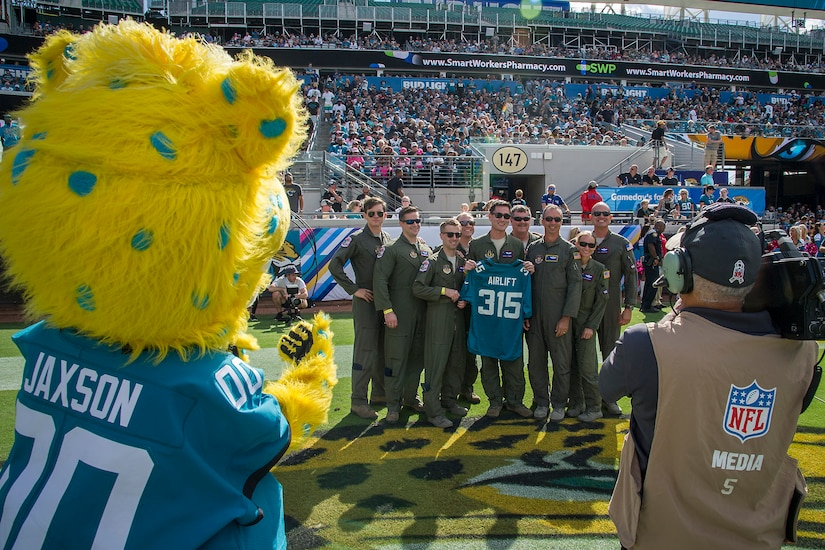 "While the Jacksonville Jaguars lost their Oct. 21 home game against the Houston Texans, 20-7, the game at least started off with a thunderous roar from a Charleston C-17 Globemaster III flown a mere 1,500 feet above by the 701st Airlift Squadron aka the ""Turtles."""