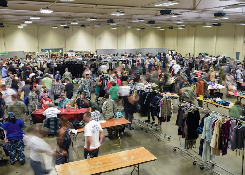 Local veterans come to the Veteran Stand Down event Oct. 20, 2018 at the Santa Maria Fair Grounds, Calif. The Veteran Stand Down event is an annual event that gives back to veterans in need.