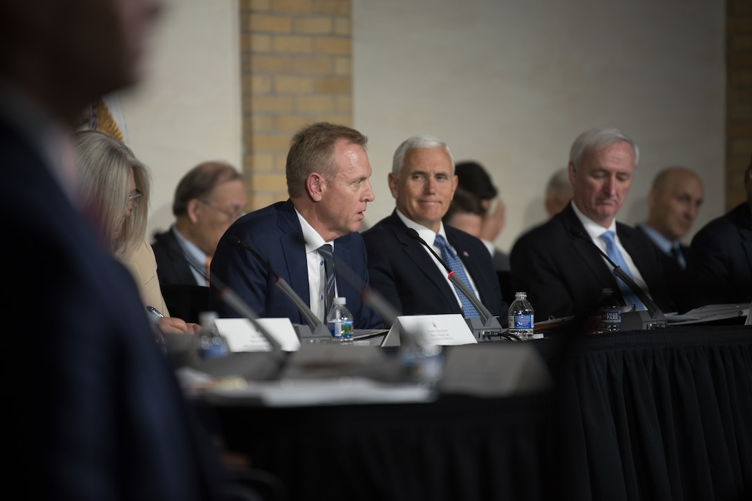 Vice President Mike Pence hosts a meeting of the National Space Council at Fort Lesley J. McNair in Washington, D.C.