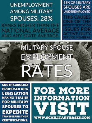 According to the Virginia Summit on Military Spouse Employment, the unemployment rate among military spouses is 28 percent and military spouse under-employment is at 38 percent.