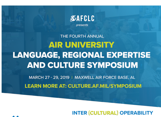 Air Force Culture and Language Center seeks presenters, proposals for annual Air University LREC Symposium