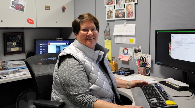 Anita Kerns is a financial specialist at the 711th Human Performance Wing. Kerns has worked at Wright-Patterson Air Force Base for over 30 years and has been profoundly deaf since the age of two. Wright-Patterson Air Force Base employers acknowledge the positive impact a diverse team can have and supports employees with disabilities to help them to excel. (U.S. Air Force photo/Loren Deer)