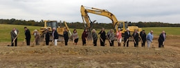 Officials break ground on Greer Industrial Park in Laurel County, Ky., Oct. 18, 2018.  During the event, Rep. Hal Rogers announced the U.S. Army Corps of Engineers is providing $1.3 million toward a 500,000 gallon elevated water tank. (USACE photo by Lee Roberts)