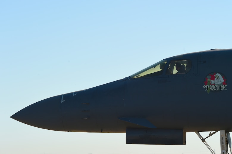 B-1B involved in May IFE departs Midland