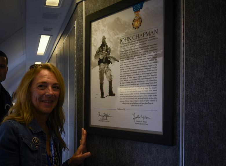 MSgt. John Chapman honored with aircraft dedication