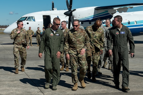 U.S. Air Force leadership visit Tyndall Air Force Base.