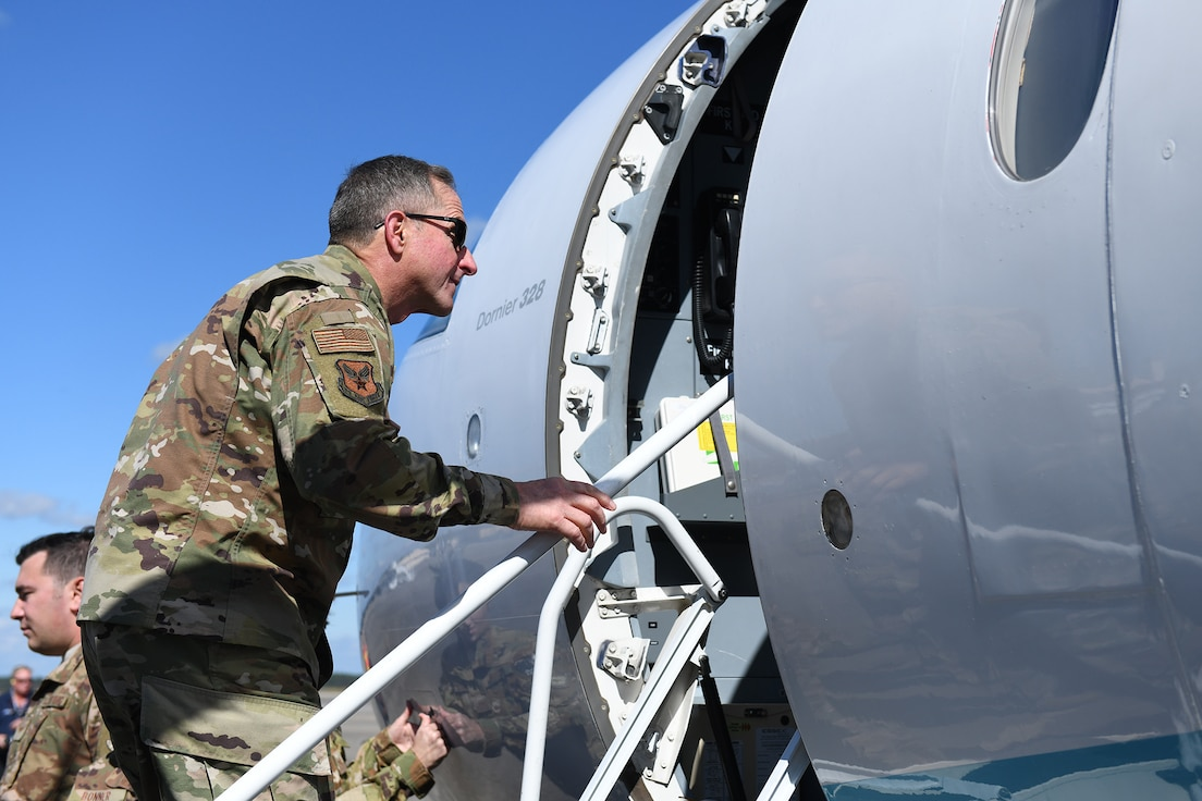 CSAF boards aircraft