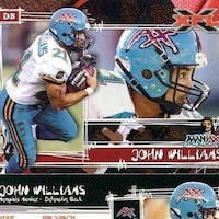 An Xtreme Football League (XFL) promotional flyer for the Memphis Maniax featuring former professional football player, Staff Sgt. John Williams Jr., a U.S. Army Corps of Engineers, Far East District construction representative.