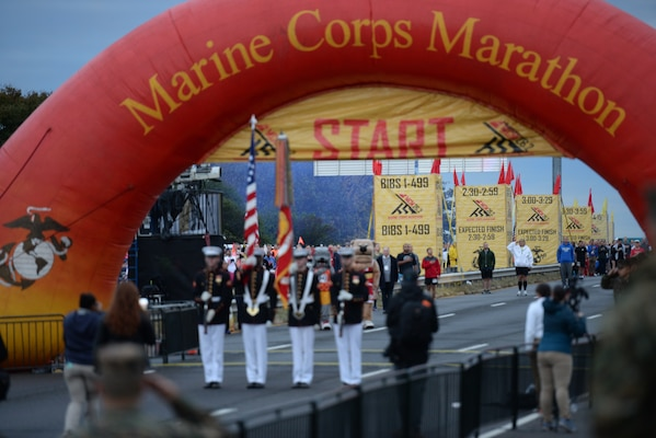 The 2018 Armed Forces Marathon Championship held in conjunction with the 43rd Marine Corps Marathon in Washington, D.C. on October 28, featuring service members from the Army, Marine Corps, Navy, Air Force and Coast Guard.