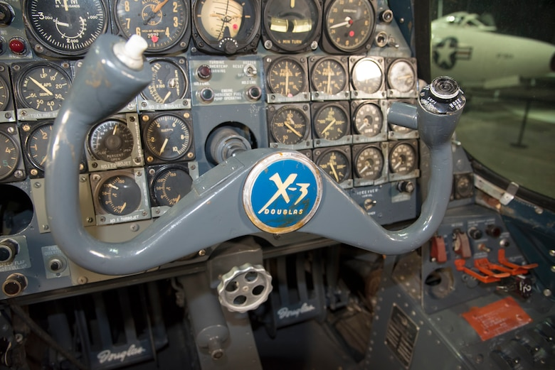DAYTON, Ohio -- Douglas X-3 Stiletto cockpit at the National Museum of the United States Air Force. This aircraft is on display in the museum's Research & Development Gallery. (U.S. Air Force photo by Ken LaRock)